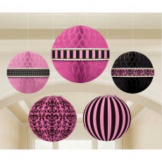 Day in Paris Party Decorations - Hanging Decorations Honeycomb Lantern