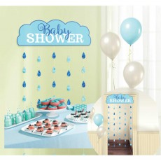 Baby Shower - General Blue  Door Decoration