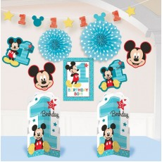 Mickey Mouse 1st Birthday Fun To Be One Room Decorating Kit