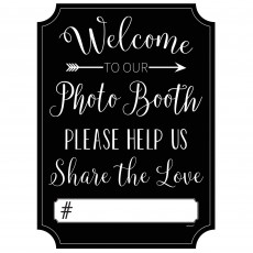 Love Welcome to Our Photo Booth Photo Prop 38cm x 27cm