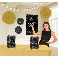 Happy Birthday Sparkling Celebration Add Any Age Room Decorating Kit