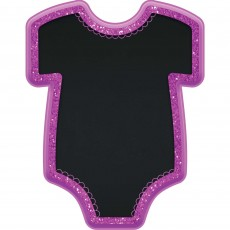 Baby Shower - General Baby Girl Bodysuit Glittered Easel Misc Decoration