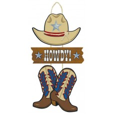 Cowboy & Western Triple MDF Sign Misc Decoration