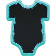 Baby Shower Party Decorations - Baby Boy Bodysuit Glittered Easel