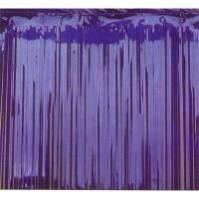 Blue Metallic Curtain Door Decoration 2.4m x 91cm