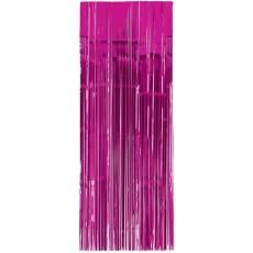 Bright Pink Metallic Curtain Door Decoration 2.4m x 91cm
