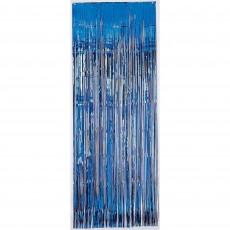 Bright Royal Blue Metallic Curtain Door Decoration 91.4cm x 2.43m