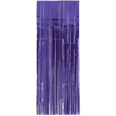 New Purple Metallic Curtain Door Decoration 2.4m x 91cm