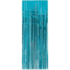 Blue Caribbean Metallic Curtain Door Decoration