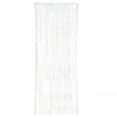 White Metallic Curtain Door Decoration