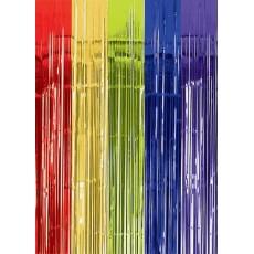 Multi Coloured Metallic Curtain Door Decoration 2.4m x 91.4cm