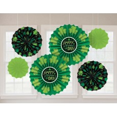 St Patrick's day Paper Fan Hanging Decorations