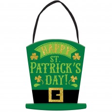 St Patrick's day Mini Message MDF Sign Hanging Decoration