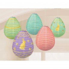 Easter Mini Egg Shaped Paper Lanterns