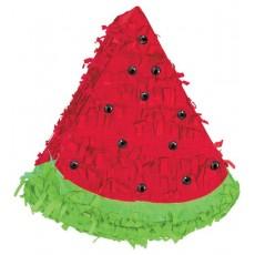 Hawaiian Party Decorations Watermelon Mini Pinata & Gems