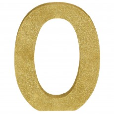 Letter O Party Decorations - MDF Glittered Gold