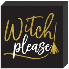 Halloween Party Supplies - Misc Decorations - Standing Square Plaque