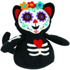 Halloween Day of the Dead Roly Poly Cat Fabric Misc Decoration