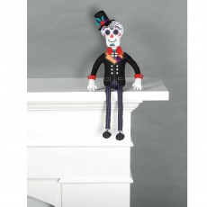 Halloween Day of the Deat Fabric Groom Doll Critter Sitter Misc Decoration