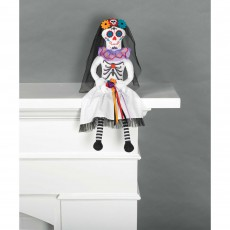 Halloween Day of the Deat Fabric Bride Doll Critter Sitter Misc Decoration