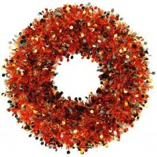 Orange Tinsel Wreathe Misc Decoration