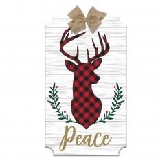 Christmas Deer Head Easel Sign Misc Decoration