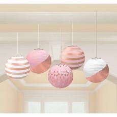Blush Party Decorations - Lanterns Mini