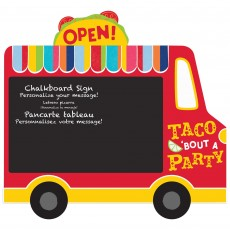 Mexican Fiesta Party Decorations - Taco Truck Chalkboard Easel Sign