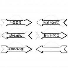 Wedding Party Decorations - Directional Hanging Signs