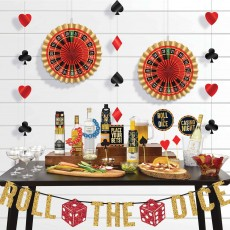 Casino Night Roll The Dice Bar Decorating Kit