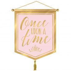 Disney Princess Once Upon A Time Canvas Banner 37cm x 22cm