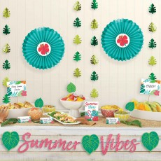 Hawaiian Party Decorations Tropical Jungle Deluxe Buffet Decorating Kit