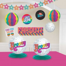 Disco & 70's Good Vibes Room Decorating Kit