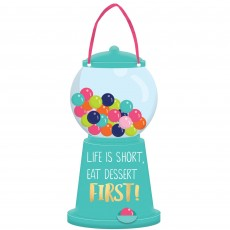 Sweets & Treats Party Decorations - Mini Message Dispenser Sign