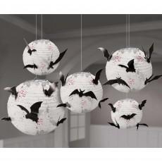 Halloween Dark Manor Bats Paper Lanterns