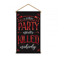 Halloween Party Supplies - Hanging Decorations - Canvas Sign