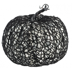 Halloween Glittered Web Covered Pumpkin Misc Decoration