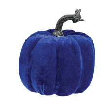 Halloween Blue Velvet Covered Pumpkin Misc Decoration