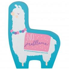 Llama Fun Party Decorations - Mini Standing MDF Sign