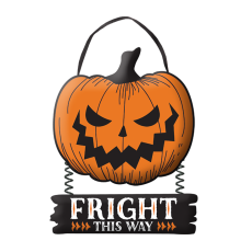 Halloween Pumpkin Sign Hanging Decoration