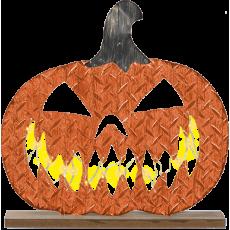 Halloween Light Up Pumpkin Standing Sign Misc Decoration