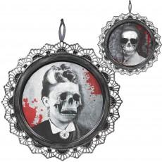 Halloween Dark Manor Metal Portrait Hanging Decoration