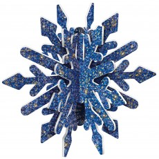 Christmas Blue & Glittered Gold 3D Snowflake Misc Decoration