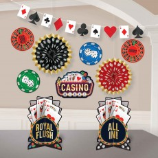 Casino Party Supplies - Decorating Kit Roll The Dice Room