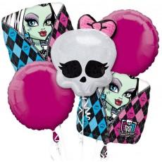 Monster High Bouquet Foil Balloons Pack of 5
