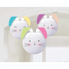 Easter Party Decorations - Lanterns Hello Bunny