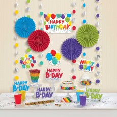 Happy Birthday Celebration Room Decorating Kits