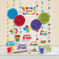 Happy Birthday Party Decorations - Decorating Kits Celebration Room