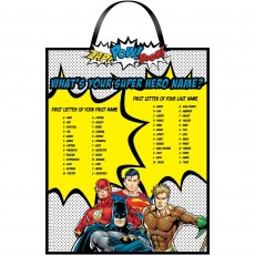 Justice League Party Supplies - Heroes Unite Name Sign