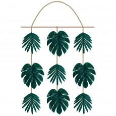 Hawaiian Luau Aloha Faux Palm Leaf Hanging Decoration
